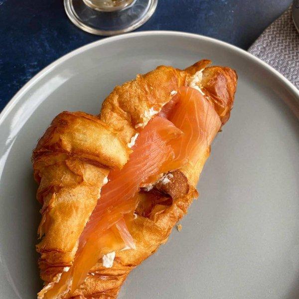 cold smoked salmon croissant rebecca