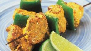 Tikka Monkfish Kebabs