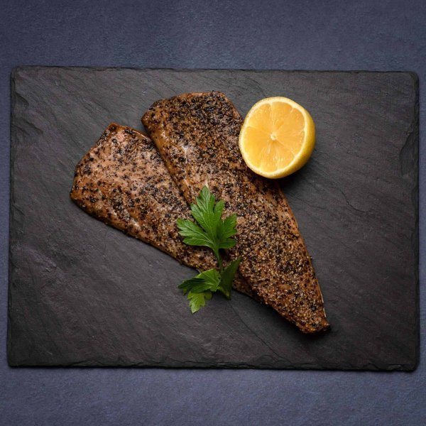 Peppered Hot smoked Mackerel | Amity Fish Company
