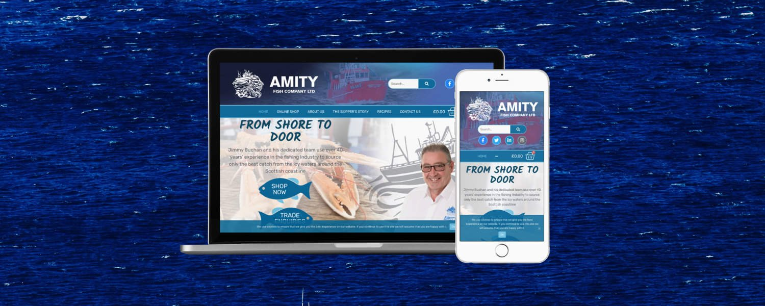 Freshly Landed: new website for Amity Fish
