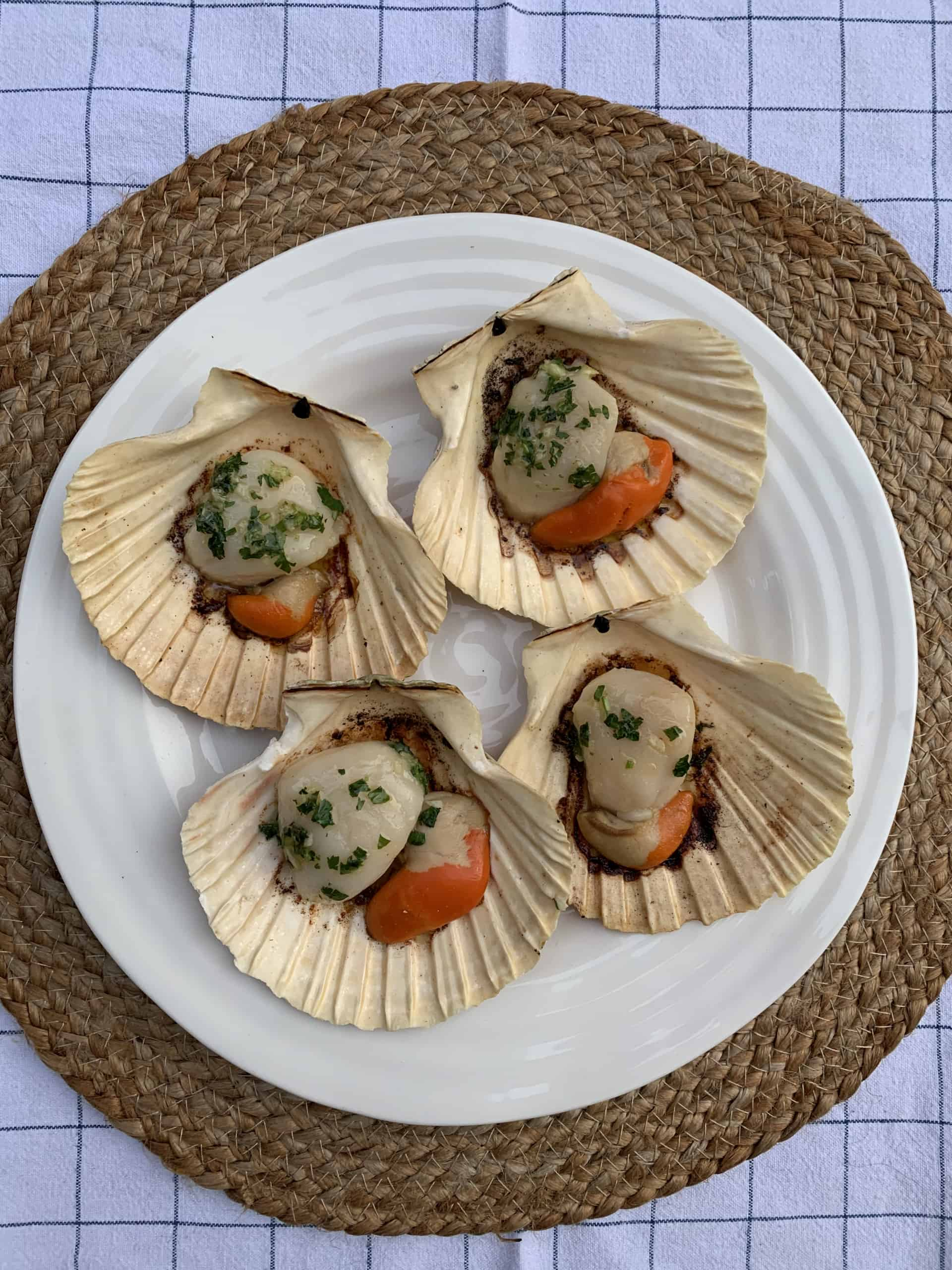 Grilled Half Shell Scallops
