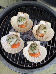 BBQ Half Shell Scallops